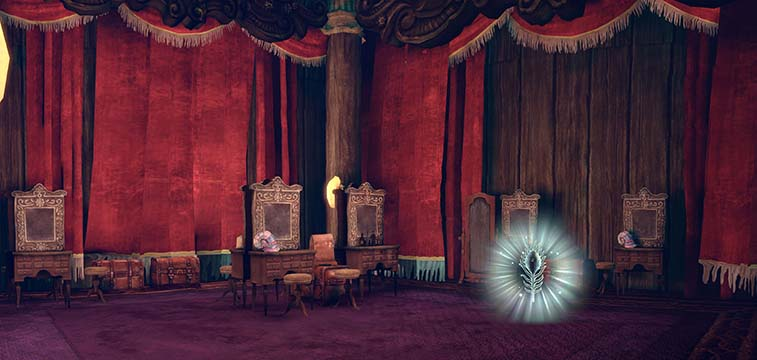 Alice Madness Returns Panorama a hidden room in Dreary Lane Theatre