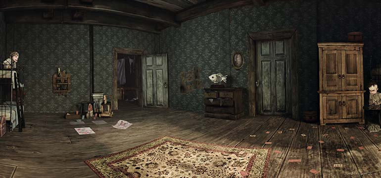 Alice Madness Returns Panorama the boys room