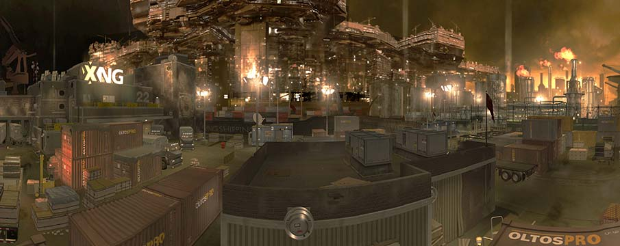 Deus Ex Human Revolution Panorama Belltower dock 315&deg