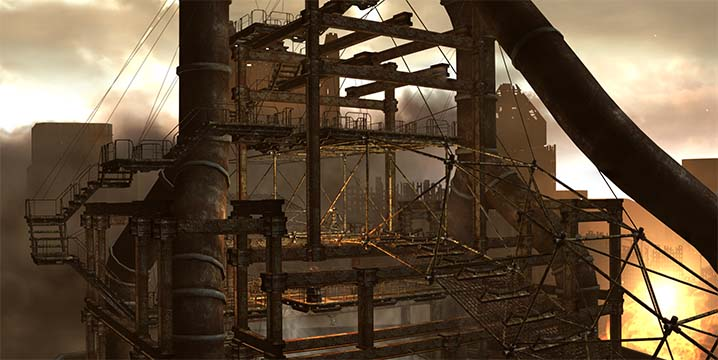 Fallout 3 Panorama The Pit, Steelworks after clearing if of Trogs and Wernher