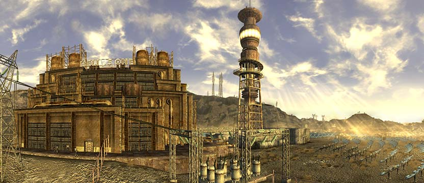 Fallout New Vegas Panorama Helios One reactivated